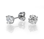 0.20Ct Ij - Si2 Natural Diamond 14K Gold Men'S Single Stud Certified