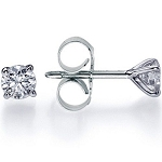 0.30Ct Natural Diamond Solid Gold Men'S Single Stud Certified
