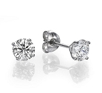 0.35Ct Natural Diamond 14K Gold Men'S Single Stud Certified