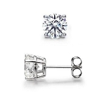 0.42Ct Hi Natural Diamond 14K Gold Men'S Single Stud Certified