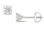 0.40Ct Natural Diamond Solid Gold Men'S Single Stud Certified