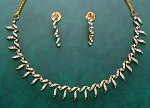 Diamond Necklace & Earring set 5.00Ct Gold Wedding jewelry Set Natural Certified