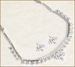 Diamond Jewelry Set 2.25Ct White Gold Wedding jewelry Set Natural Certified