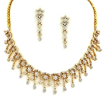 Diamond Necklace Set 10.00Ct Yellow Gold Bridal jewelry Set Natural Certified