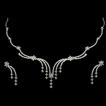 Diamond Necklace Set Design 9.00Ct Diamond Diamond Necklace & Earrings Set Gold Natural Certified