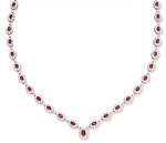 Diamond Gemstone Necklace 13.00Ct Ruby Solid Gold Wedding Natural Certified