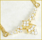 Necklace for Womens 1.00Ct Diamond Solid Gold Wedding Bridal Jewelry Natural Certified