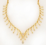 Diamond necklace Design 5.00Ct  Solid Yellow Gold Wedding Natural Certified