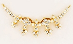 Diamond Yellow Gold Necklace 1.00Ct Diamond Solid Gold Wedding Natural Certified