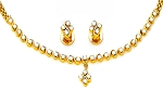Bridal diamond Necklace Set 2.00Ct Solid Gold Bridal jewelry Set Natural Certified