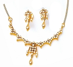 Bridal jewelry Set 3.55Ct Diamond Necklace Solid Gold Wedding Natural Certified
