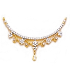 Necklace for Womens 1.30Ct Diamond Necklace Yellow  Gold Wedding Natural Certified