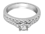 Diamond Wedding Ring Sets 1.25 Ct Solid Gold Bridal Sets Natural Certified
