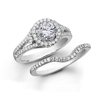 Bridal Sets 3.00 Ct Diamond 14K Solid Gold Wedding Ring Set Natural Certified