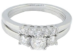 White Gold Wedding Ring Sets 1.00 Ct Solitaire Diamond Natural Certified