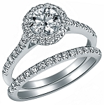 Wedding Ring for Women 2.55 Ct Solitaire Diamond White Gold Natural Certified