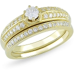 Matching Wedding Ring Sets 2.00 Ct Solitaire Diamond Natural Certified