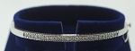 Single line Diamond Bangle Pair 1.00Ct Solid Gold Natural Certified