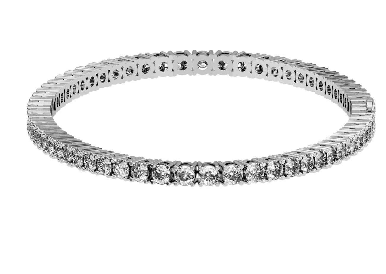 eternity diamond cut wg gold tennis in nl princess bracelet white carat with bracelets jewelry