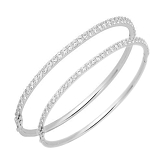 Diamond Eternity Bangle Pair 3.00Ct Solid Gold Natural Certified
