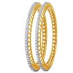 Diamond Eternity Bangle Pair 7.00Ct Solid Gold Natural Certified