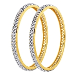 Diamond Bangle Pair 8.00Ct Solid Gold Natural Certified