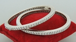 Diamond Eternity Bangle Pair 5.00Ct Solid Gold Natural Certified
