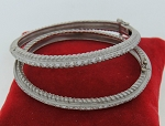 Diamond Eternity Bangle Pair 6.00Ct Solid Gold Natural Certified
