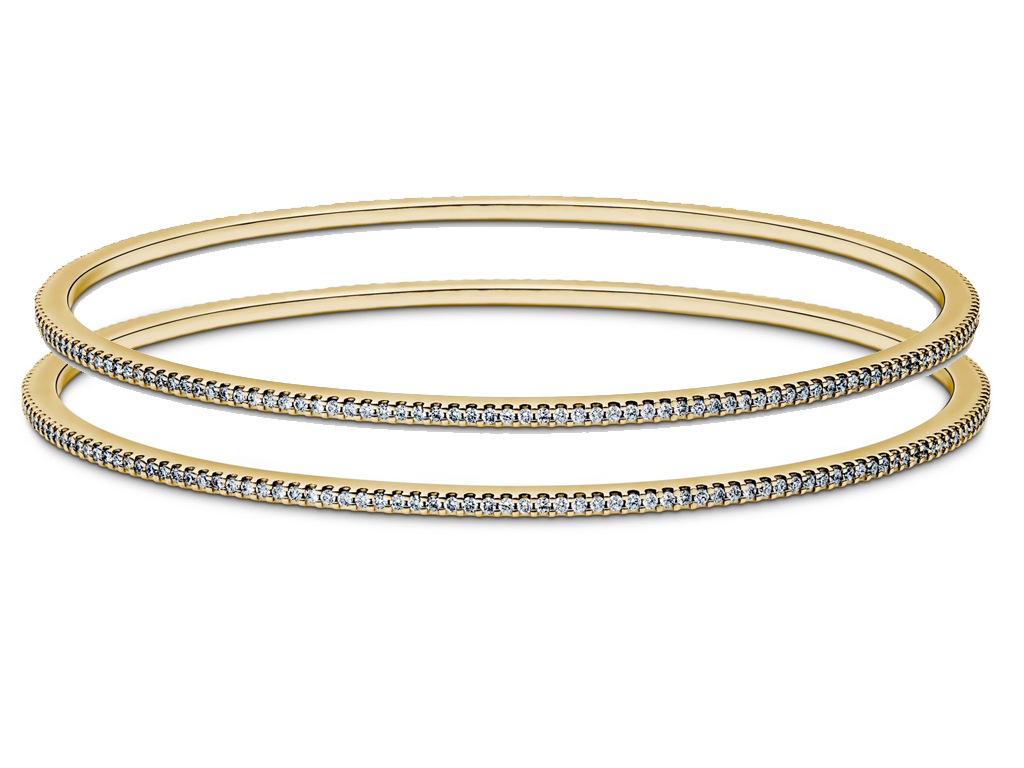 inches bracelet yellow roberto coin classic gold diamond eternity bangle