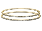 Diamond Eternity Bangle Pair 4.00 Ct Solid Yellow Gold  Natural Certified