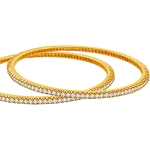 Diamond Bangle Pair  4.00Ct Solid Gold Natural Certified