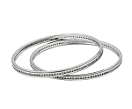 Single Line Bangle Pair 6.00Ct Natural diamond Solid Gold  Certified