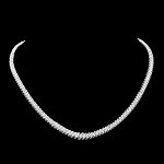 Diamond Strings 12.00Ct Solid White Gold Tennis necklace Natural Certified
