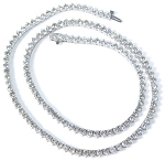 Solitaire Diamond Necklace 12.00Ct Solid White Gold String Natural Certified