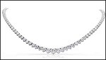 Diamond Tennis Necklace 12.00Ct Solid White Gold Anniversary Gift Natural Certified