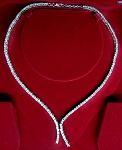 Diamond Eternity Necklace 8.00Ct Diamond Solid White Gold Tennis Necklace Natural Certified