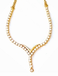 Diamond Solitaire Necklace 5.00Ct Solid Yellow Gold String Natural Certified