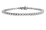 Gold Tennis Bracelets 3.02 Ct Natural Diamond Solid White Gold Natural Certified