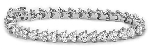 Gold Tennis Bracelets 3.55 Ct Natural Diamond Solid White Gold Natural Certified