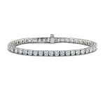 White Gold Diamond Tennis Bracelet 10.00 Ct Natural Untreated Solid White Gold Natural Certified