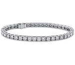 Tennis Bracelet 4.05 Ct Natural Diamond Solid White Gold Natural Certified