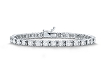 Gold Tennis Bracelets 4.00 Ct Natural Diamond Solid White Gold Natural Certified