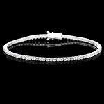 Diamond Tennis Bracelets 4.00 Ct Solid White Gold Natural Certified