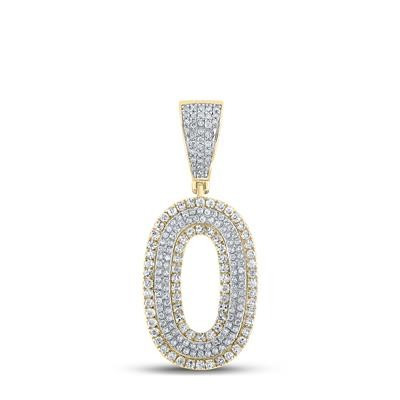 0 Hip Hop Gold Pendant Natural Round 0.74 Carats Diamond Solid 10Kt Yellow Gold Charm Pendant
