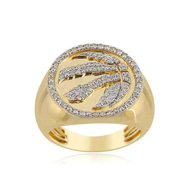 Hip Hop Gold Ring Natural 0.75 Carats Diamond Solid 10Kt Yellow Gold Hip Hop Ring Us 7 To  12