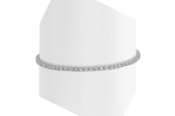 2.5ct Diamond Tennis Bracelet White Gold 7""