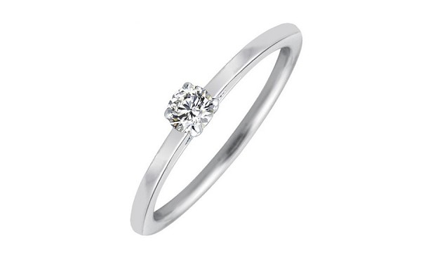 1/4 ct HI-SI Diamond Solitaire Engagement Ring 10K Yellow & White Gold