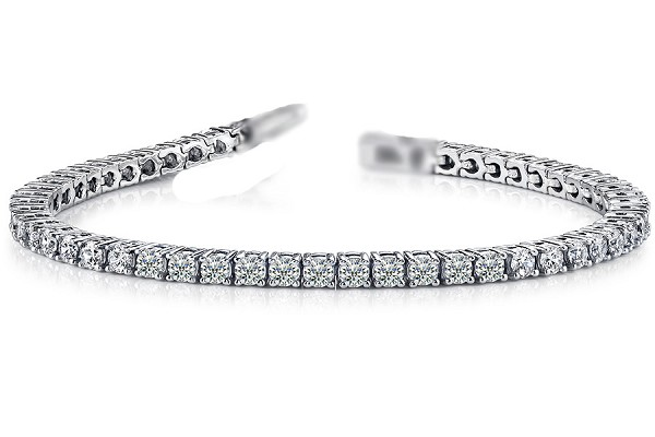 5ct Diamond Tennis Bracelet White Gold 7""