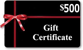 Gift Certificates $500 Value