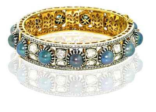 Art Deco Bracelet 4.75 Ct Uncut Natural Certified Diamond 4 Ct Gemstone 925 Sterling Silver Vacation
